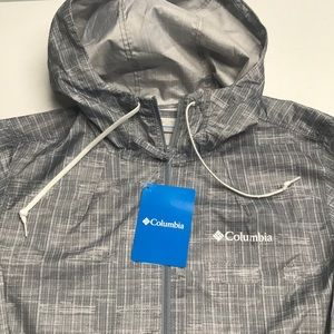🆕 COLUMBIA Womens XS Gray Windbreaker Jacket